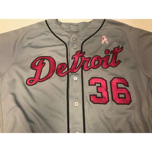 Photo of Game-Used Blaine Hardy Mother's Day Jersey