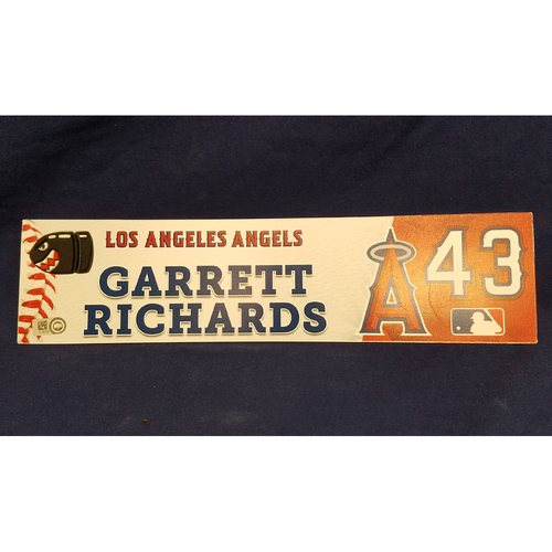 Photo of Garrett Richards Game-Used Locker Tag