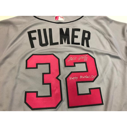 Photo of Autographed Team-Issued Mother's Day Jersey: Michael Fulmer