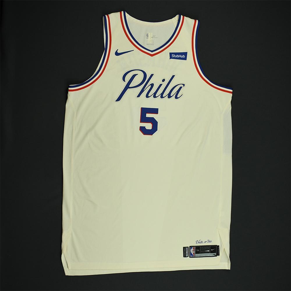 Amir Johnson - Philadelphia 76ers - Game-Worn 'City' Jersey - 2018 NBA Playoffs