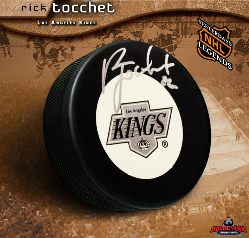 RICK TOCCHET Signed Los Angeles Kings Hockey Puck