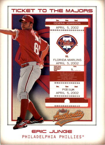 Photo of 2002 Fleer Authentix #153 Eric Junge TM RC