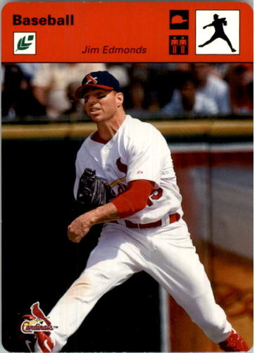Photo of 2005 Leaf Sportscasters 30 Red Throwing-Hat #21 Jim Edmonds
