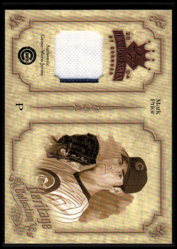 Photo of 2004 Diamond Kings Heritage Collection Jerseys #22 Mark Prior/50