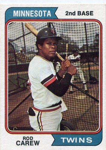 Photo of 1974 Topps #50 Rod Carew Hall of Famer