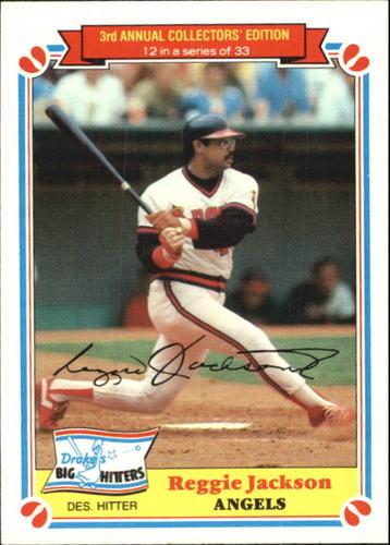 Photo of 1983 Drake's #12 Reggie Jackson