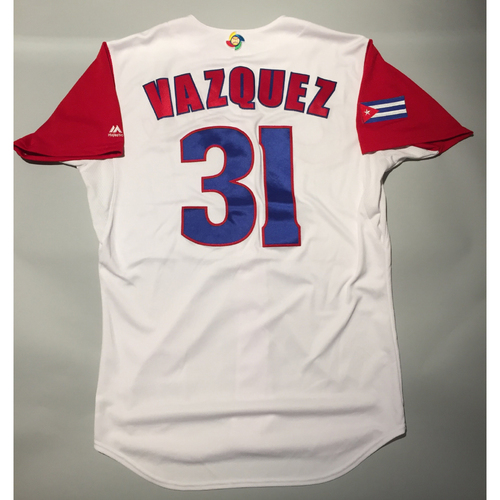 Photo of 2017 WBC: Cuba Game-Used Home Jersey, Vazquez #31