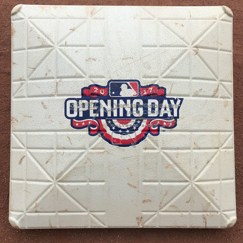 Photo of San Francisco Giants - 2017 Game-Used 3rd Base - Home Opening Day - April 10th (innings 5-6)
