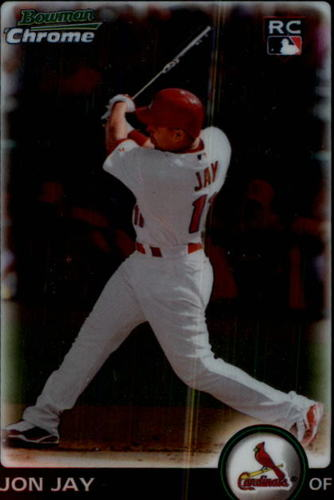 Photo of 2010 Bowman Chrome #202 Jon Jay Rookie Card Cubs post-season