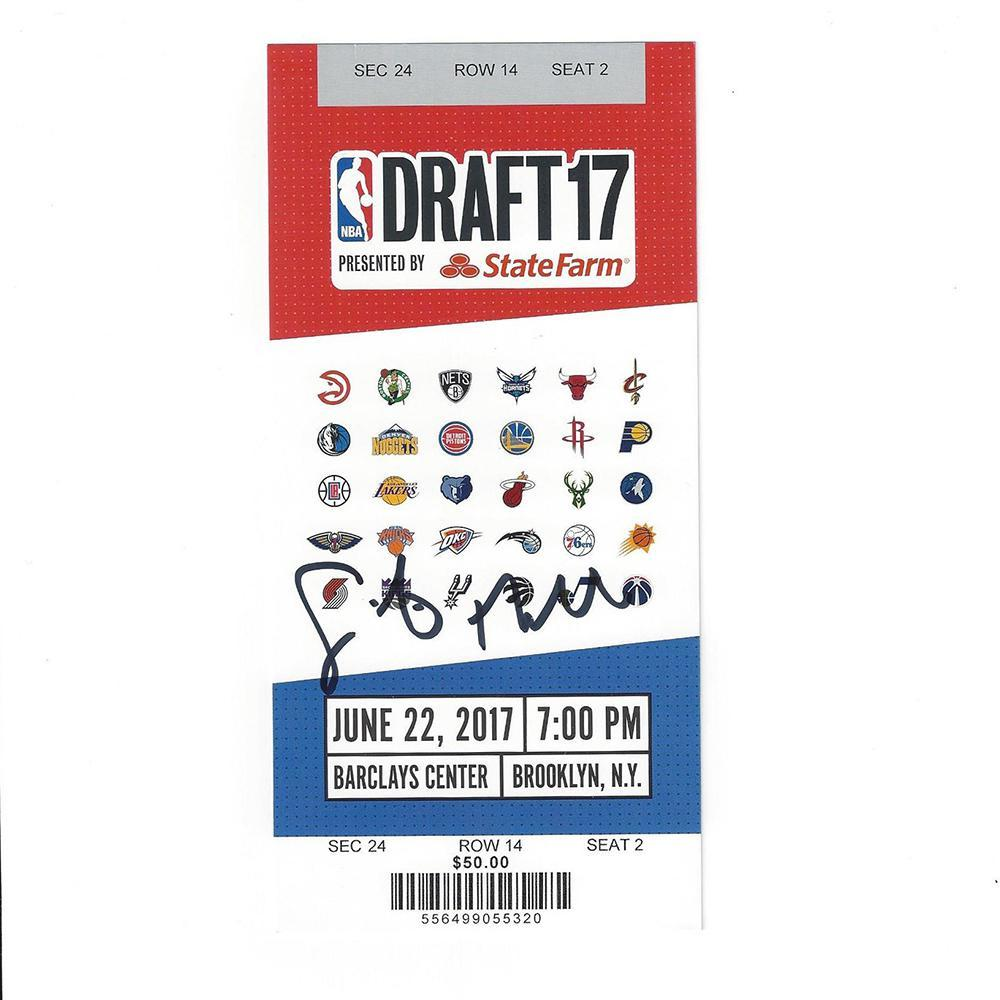 Sindarius Thornwell - Los Angeles Clippers - 2017 NBA Draft - Autographed Draft Ticket
