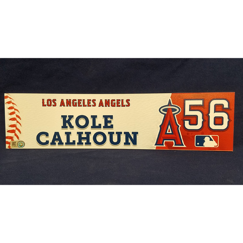 Kole Calhoun Game-Used Locker Tag