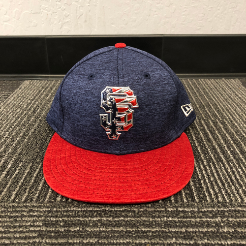 Photo of San Francisco Giants - HOLIDAY STEALS - 2017 Team-Issued Cap - 4th of July - #41 Mark Melancon - (Size: 7 1/4)