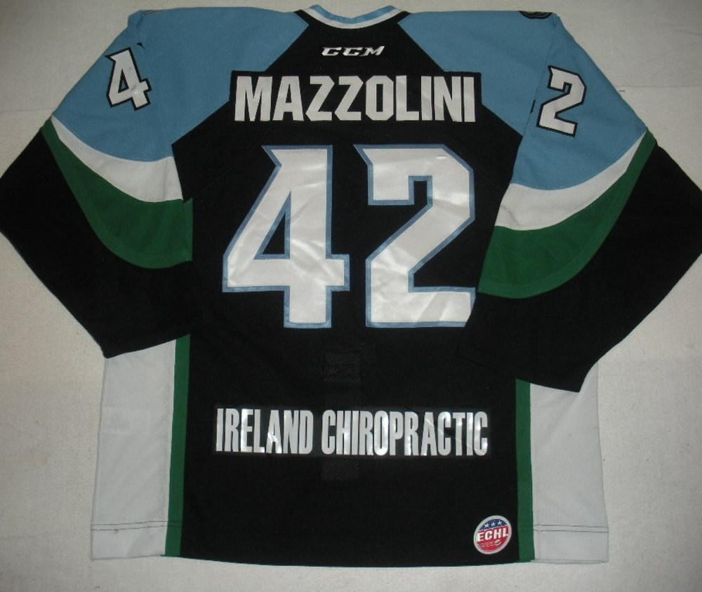 Nick Mazzolini - 2014 Kelly Cup Finals - Alaska Aces - Black Game-Worn Jersey - Game 4