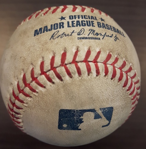 Photo of Authenticated Game Used Baseball - Joe Smith Strikeout on May 27, 2017 (Top 8 vs Delino DeShields)