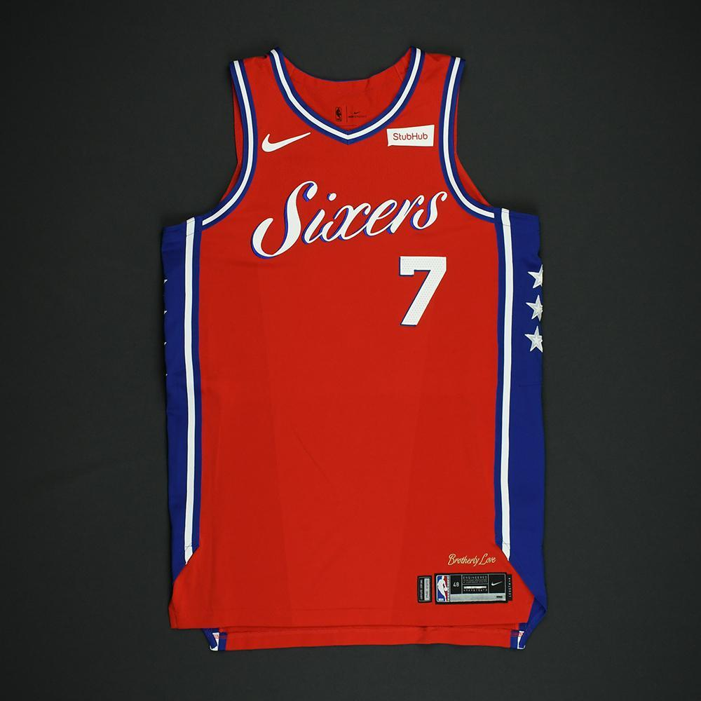 Timothe Luwawu-Cabarrot - Philadelphia 76ers - NBA Christmas Day '17 'Statement' Game-Worn Jersey - Dressed, Did Not Play