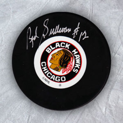 RED SULLIVAN Chicago Blackhawks Autographed Hockey Puck