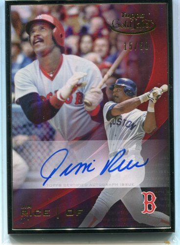 Photo of 2016 Topps Gold Label Framed Autographs Black Frame  Jim Rice 15/50