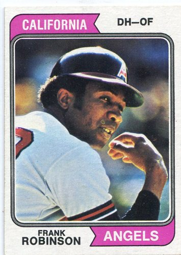 Photo of 1974 Topps #55 Frank Robinson Hall of Famer
