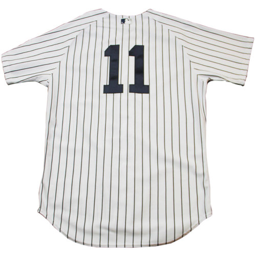 Photo of Brett Gardner Jersey - NY Yankees 2013 Season Game Issued #11 Pinstripe Jersey w/ Mo Retirement Patch (9/26/2013)