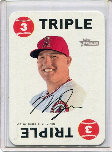 Photo of 2017 Topps Heritage Topps Game #4 Mike Trout