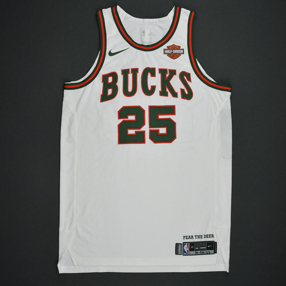 DeAndre Liggins - Milwaukee Bucks - Hardwood Classics 1968-69 Home Style Game-Worn Jersey - 2017-18 Season