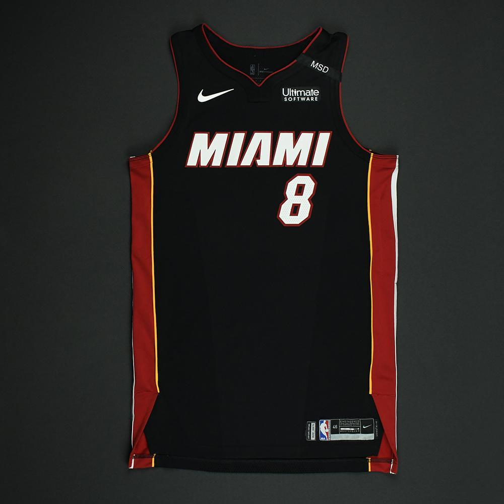 Tyler Johnson - Miami Heat - 2018 NBA Playoffs Game-Worn Jersey