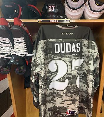 Aidan Dudas Military Appreciation Jersey