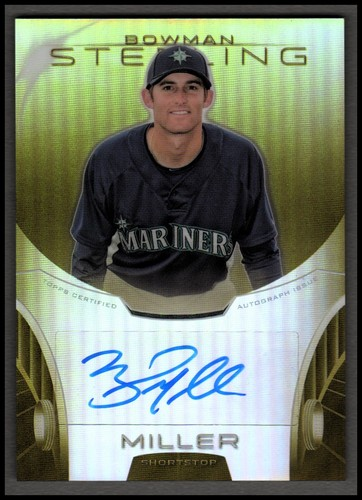 Photo of 2013 Bowman Sterling Prospect Autographs Gold Refractors #BMI Brad Miller