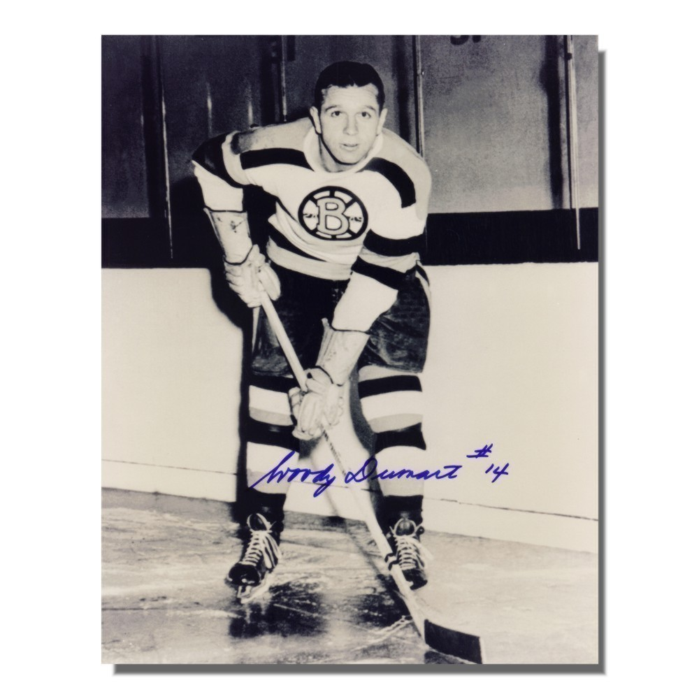 Woody Dumart (deceased) Auotgraphed Bostons Bruins 8x10 Photo