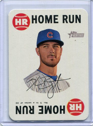 Photo of 2017 Topps Heritage Topps Game #5 Kris Bryant