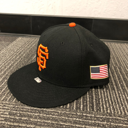 Photo of San Francisco Giants - HOLIDAY STEALS - 2017 Game-Used Cap - 9/11/17 - worn by #18 Matt Cain - (Size: 7 1/4)