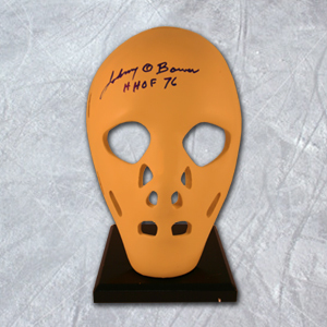 Johnny Bower Toronto Maple Leafs Autographed Full Size Goalie Mask with HOF Note