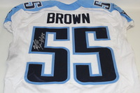 STS - TITANS ZACH BROWN GAME WORN AND SIGNED TITANS JERSEY (NOVEMBER 8 2015)