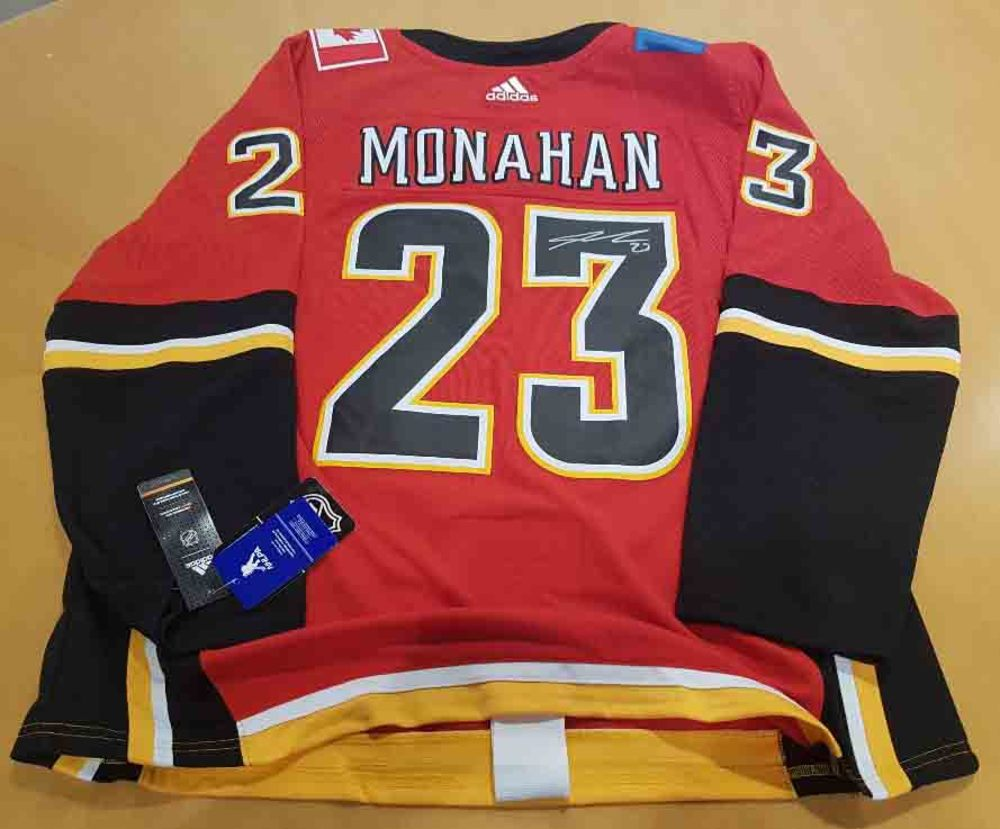 Sean Monahan Calgary Flames Autographed Retro Alternate Premier Hockey Jersey