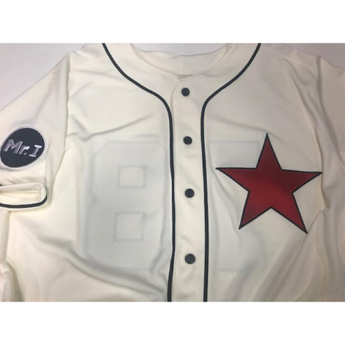 Photo of Game-Used Ed Hodge Detroit Stars Jersey