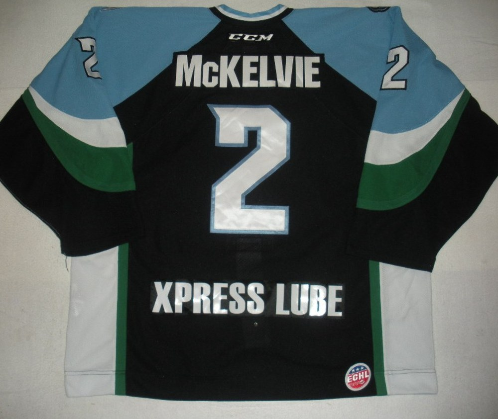 Zach McKelvie - 2014 Kelly Cup Finals - Alaska Aces - Black Game-Worn Jersey - Game 4