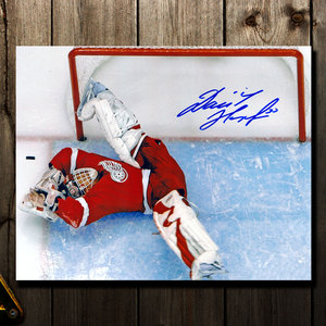 Domink Hasek Detroit Red Wings MIRACLE SAVE Autographed 8x10