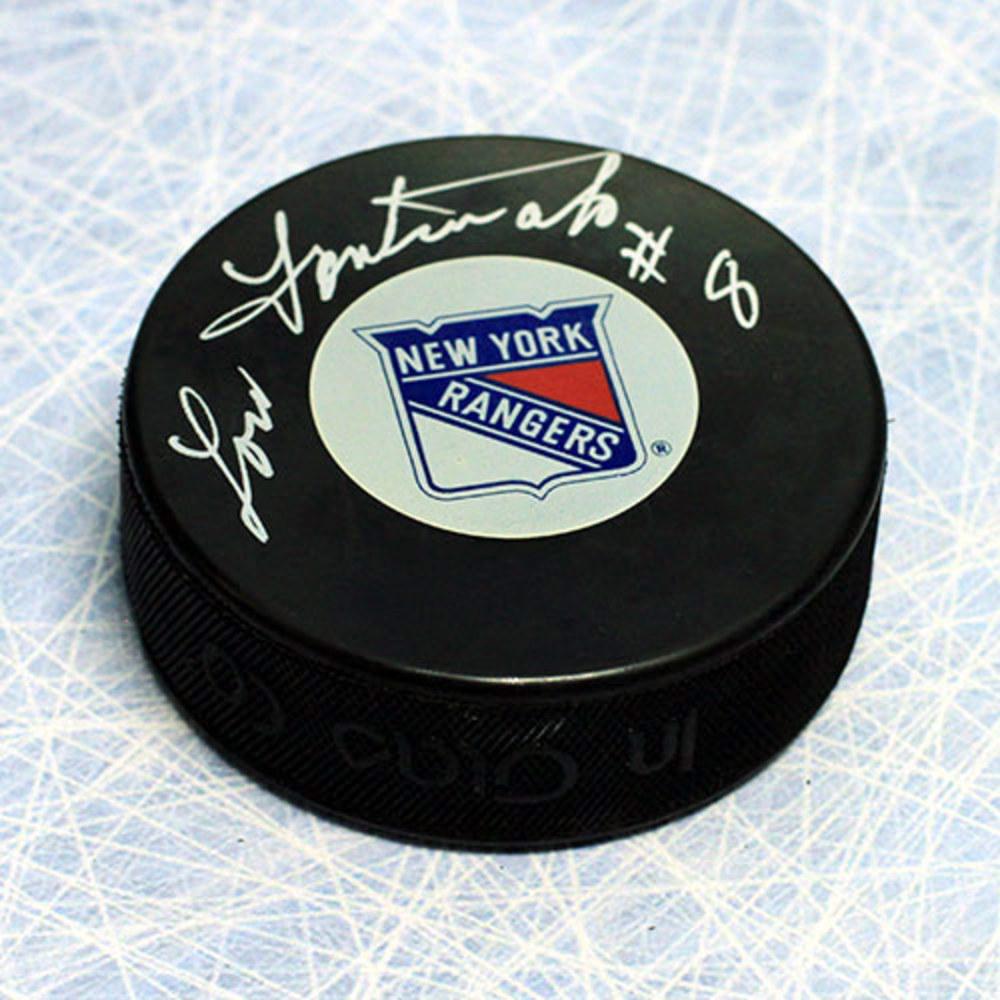 Lou Fontinato New York Rangers Autographed Hockey Puck