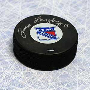 Albert Junior Langlois New York Rangers Autographed Hockey Puck