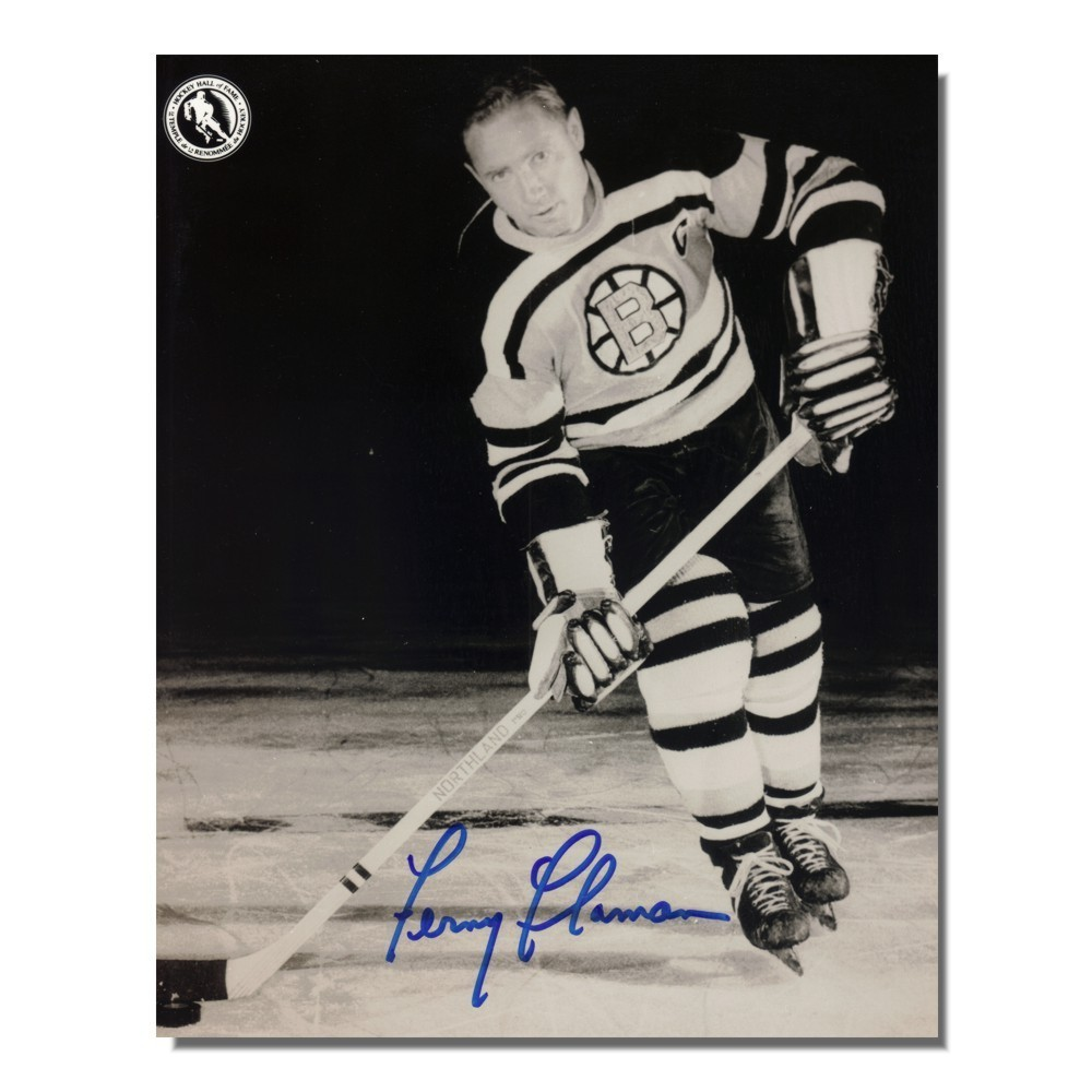 Fernie Flaman Auotgraphed Bostons Bruins 8x10 Photo