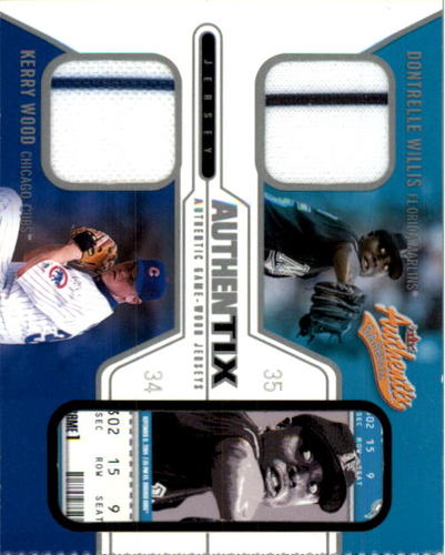 Photo of 2004 Fleer Authentix Game Jersey Dual #DWKW Dontrelle Willis/Kerry Wood