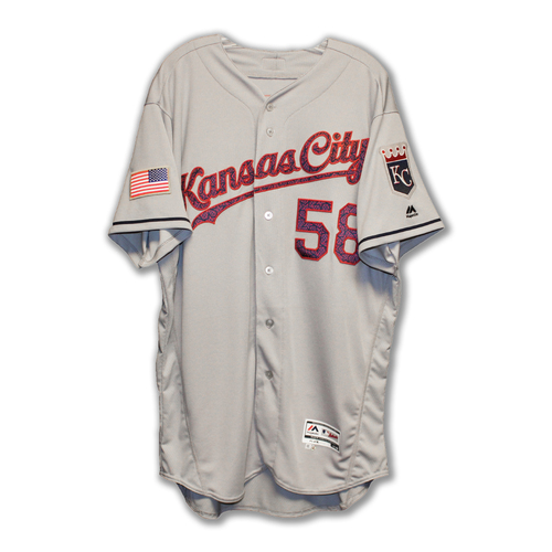 Photo of Dave Eiland Game-Used 4th of July Jersey (7/4/16) (Size 48)