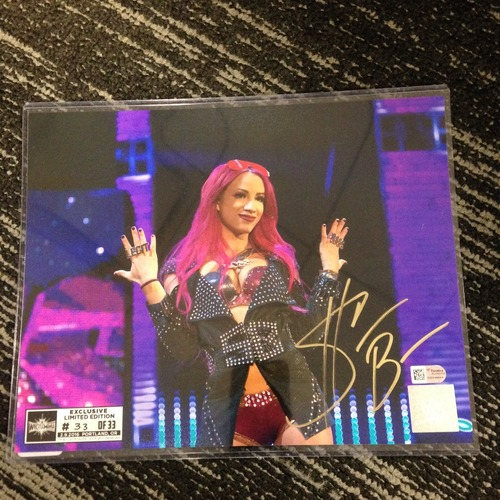 Sasha Banks SIGNED 8 x 10 Limited Edition WrestleMania 33 Photo (#33 of 33)