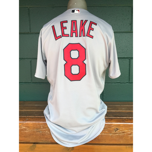 Photo of Cardinals Authentics: Mike Leake Team-Issued Road Grey Jersey