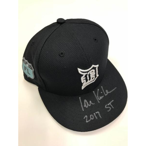 Photo of Autographed Team-Issued Ian Kinsler Home Spring Training Cap
