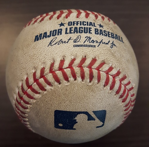 Photo of Authenticated Game Used Baseball - Francisco Liriano Strikeout on June 2, 2017 (Top 5 vs Chase Headley)