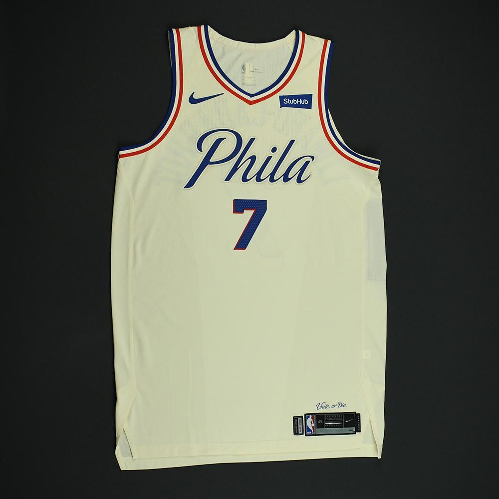 Timothe Luwawu-Cabarrot - Philadelphia 76ers - Game-Issued 'City' Jersey - 2017-18 Season