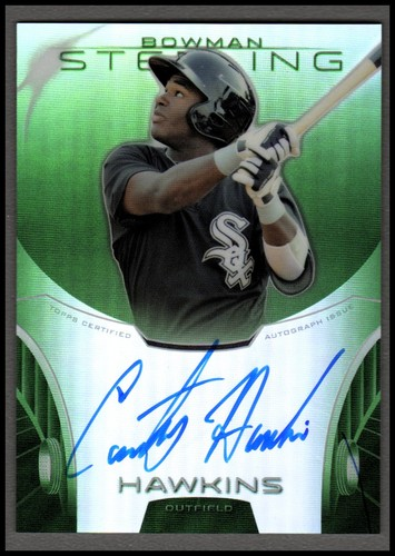 Photo of 2013 Bowman Sterling Prospect Autographs Green Refractors #CH Courtney Hawkins