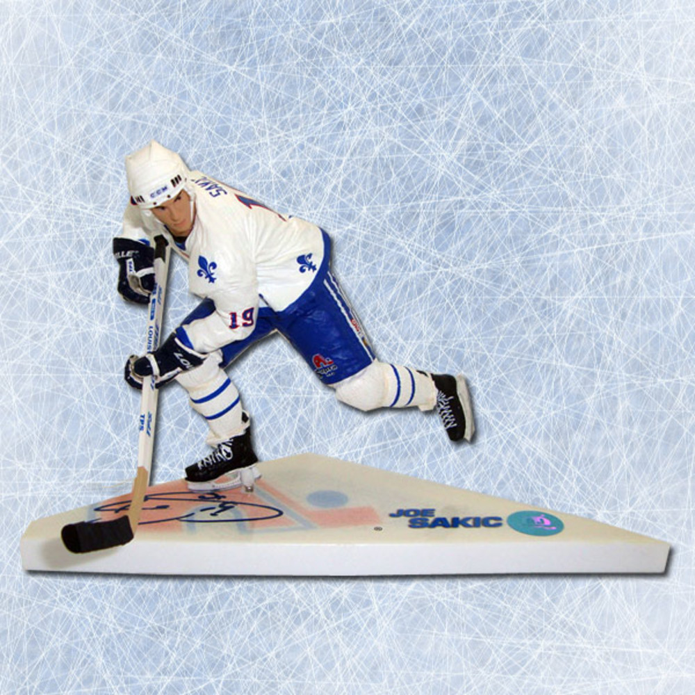 Joe Sakic Quebec Nordiques Autographed McFarlane Sports Picks Figure