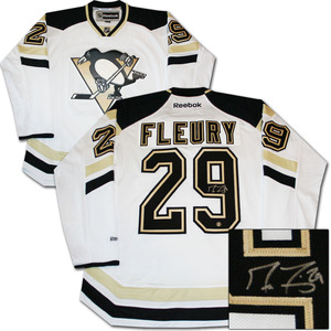 Marc-Andre Fleury Autographed Pittsburgh Penguins 2014 Stadium Series Jersey